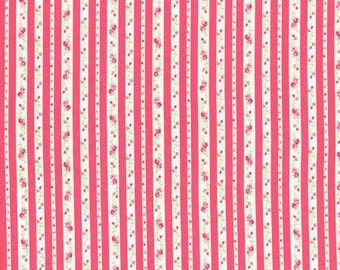 Petit Fleur Cotton Fabric Tiny Rose Red Ticking by Lecien 31217-30