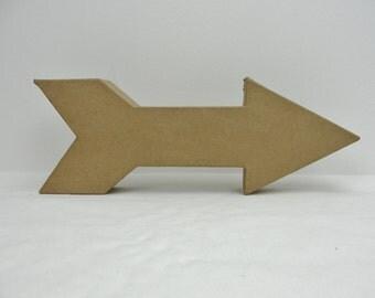 Paper mache arrow, paper mache arrowhead