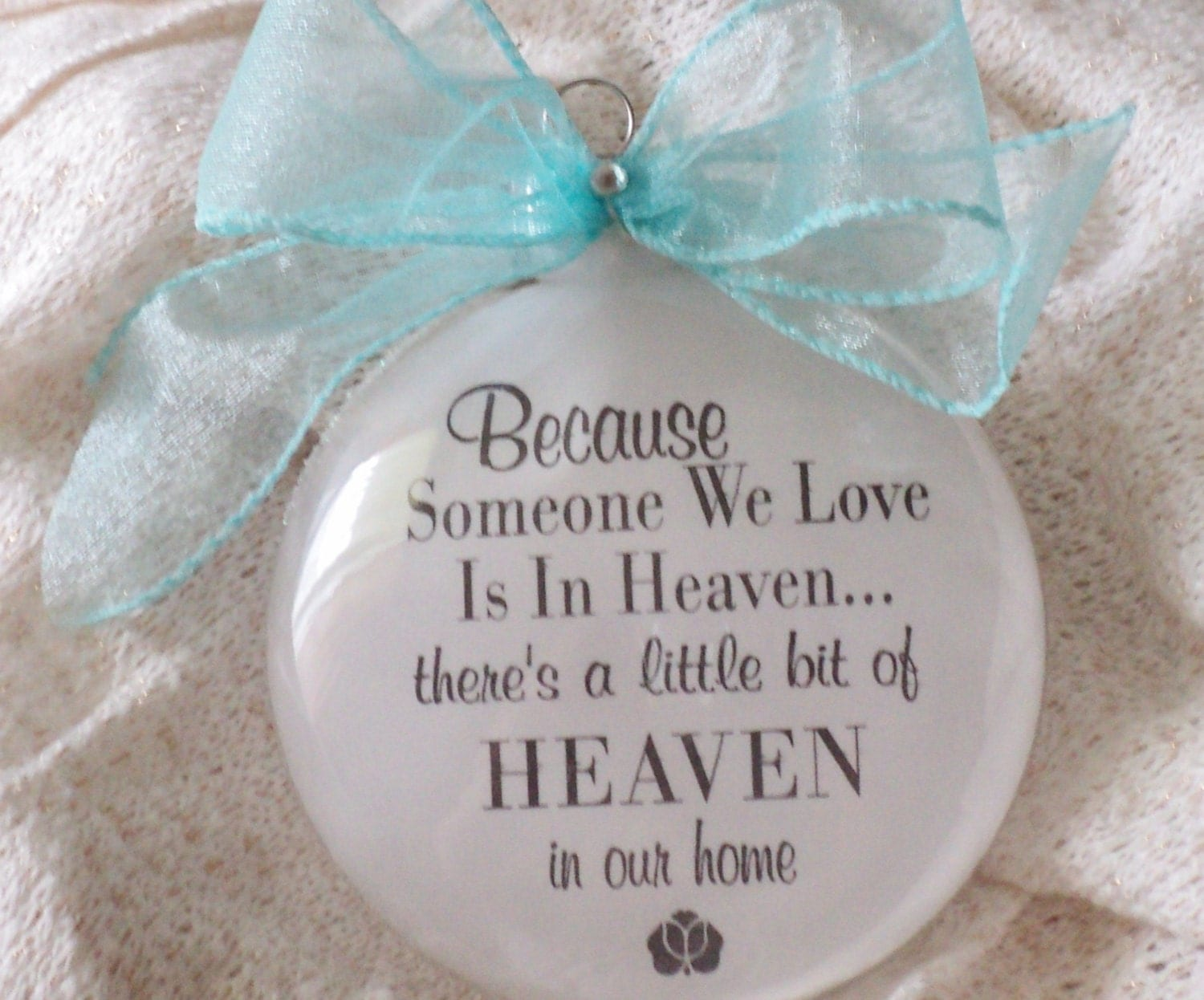 Baby loss ornaments - Memorial Someone We Love Is In Heaven Ornament For Mother Father Friend