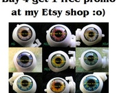 PROMO for New Soft Resin OOAK realistic custom Blythe eye chips set of 5 chips, pay 4, by Ana Karina. UV laminated
