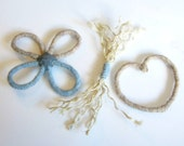 Sisal and Wool Cat Toys -  Chewing and Batting - Wool Cat Toy - Sisal Cat toy - Set of 3