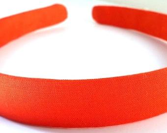 Tangerine Orange Headband 3/4 Inch