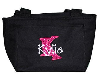 Girls Lunch Box, Personalized Lunch Bag, Custom Lunch Box, Custom Lunch Bag, Monogrammed, Birthday Gift