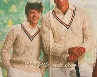 Knitting Pattern Cricket Jumper : Cricket sweater Etsy