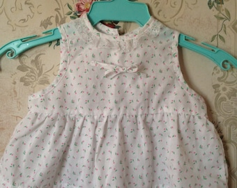 Girls vintage tulip swing top 6-12m