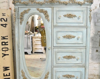Painted Cottage Chic Shabby Romantic French Dresser CH823