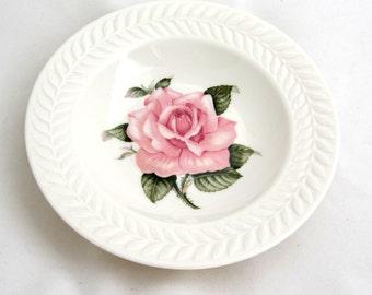 REGENTS PARK ROSE Rimmed Soup Bowl Theodore Haviland New York