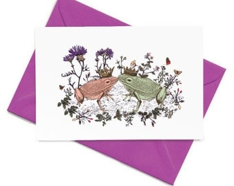 Kissing Frogs Card
