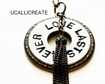 Love Lasts 4Ever Necklace /Handmade by Me/Gifts for Her