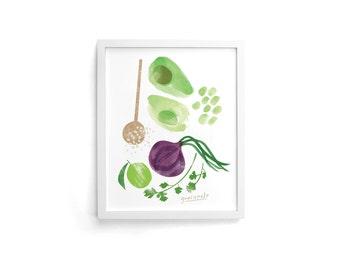 Guacamole 8 x 10 Single Art Print