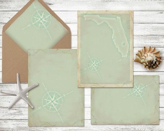 Diy Wedding Invitation Kits: DIY Wedding Invitation Kit Beach Theme Printable Invitation