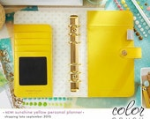 SALE Webster's Pages Color Crush Yellow BINDER ONLY • Personal Size Binder