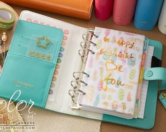Light Teal Color Crush Personal Planner Kit UNDATED Calendar • FREE Washi Tape • Webster's Pages Planner Kit Light Teal