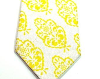Yellow Necktie Yellow Linen Neckties Skinny Neckties Yellow Neckties Custom Neckties