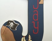 Custom Wooden Wall Letters - Hanging Letters - Nursery Letters - Pirate Theme