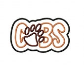 Cubs Bear Paw Print Embroidery Machine Applique Design 4358
