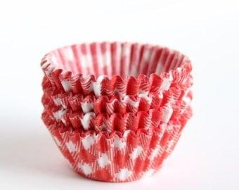 MINI Cupcake Liners - Red Gingham (100)