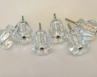 12 Pack SALE Glass Knob Trim Project Topper 1.25 Inch Furniture Craft Altered Art Supply