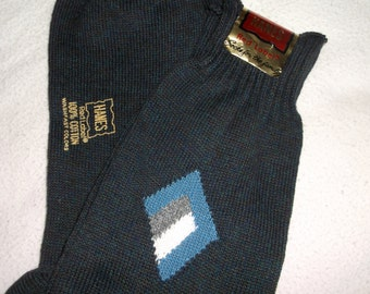 Vintage retro HANES Comfort Top Socks • red label • New with Tags • men's size 11