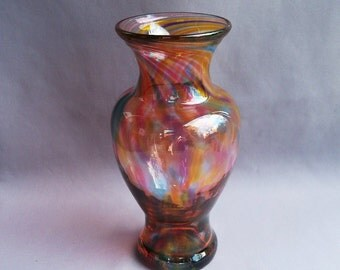 Hand Blown Art Glass Bud Vase