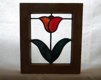 Small Red Tulip Window #2