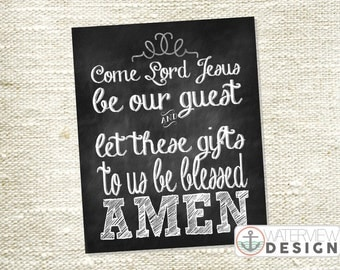 INSTANT DOWNLOAD printable // come lord jesus - common table prayer