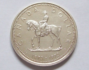 Canadian RCMP Centennial Silver Dollar 1973