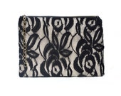 Black Lace Clutch Evening Bag Bridesmaid Gift Purse