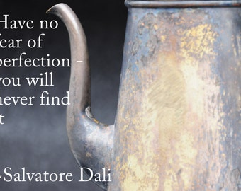 ACEO inspirational quote from Salvatore Dali