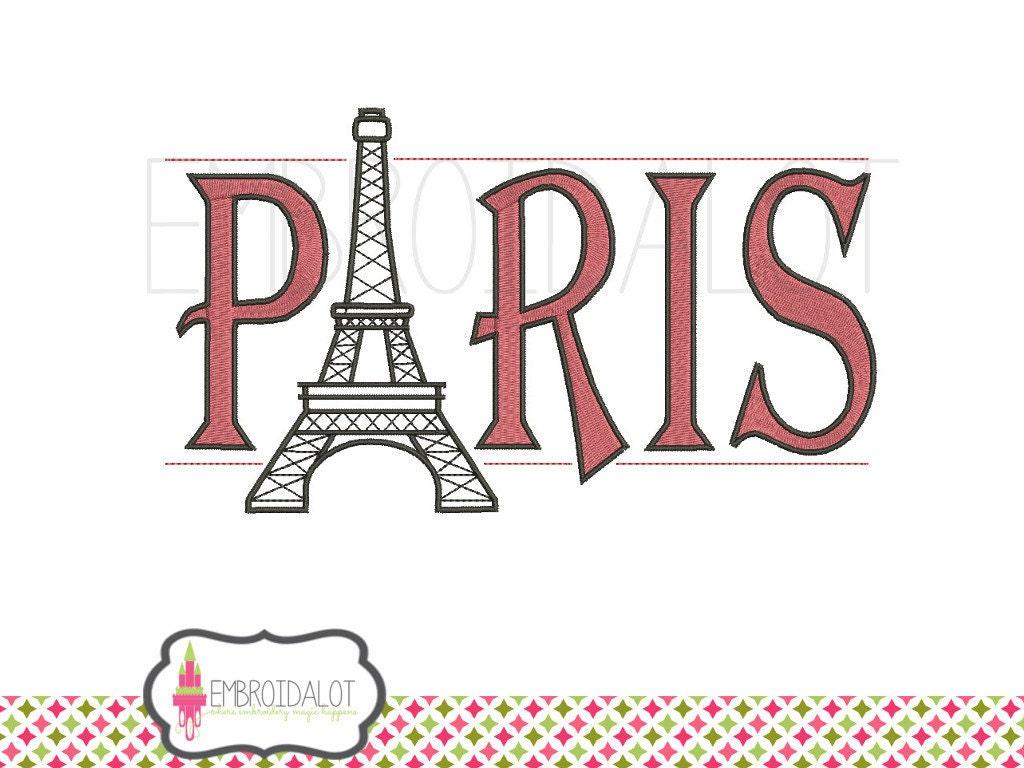 Parisian embroidery design paris design with eiffel tower for Design paris