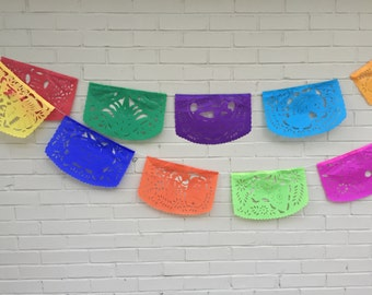 2 Large All Occasion Papel Picado Mexican Banner Garland