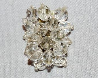 Vintage / Crystal / Dress Clip / Elaborate / Silver Tone / HETL / Patent / Old /  jewellery / jewelry