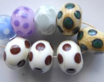 Destash Lampwork orphans spots beads