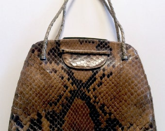 Phyton leather handbag, 30's, gorgeous