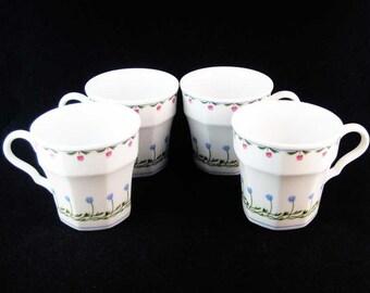 """Mikasa-Bali Hai Tea Cups(4)""""Younger Than Springtime"""" L9405"""