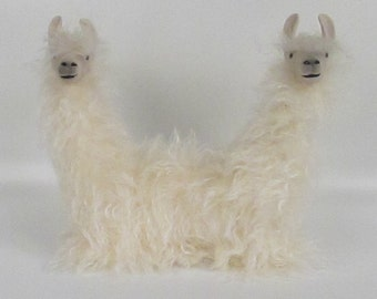 Push Me Pull You Lying Down, Lamas in Porcelain and Mohair