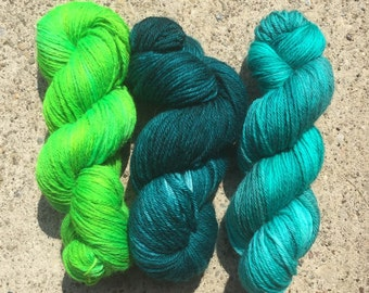 Hand-dyed Worsted weight Yarn - Coord-iKNITs Charm Pack - Vivid Brights