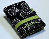 Black Dots & Green or with Any Color Crochet Hook Organizer Aqua Yellow Purple Green Pink Teal Blue