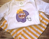 Girls Helmet Pants Set