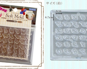 Padico Soft Mould / Mold. Alphabet and numbers. Fully flexible mold.