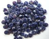 100 Ink Blue Iridescent Mini DARLING DOTZ//Recycled Glass Round Mosaic Tiles//Mosaic//Mosaic Supplies//Crafts