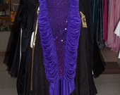 Vintage Purple Rouche Jersey Dress  with Tail
