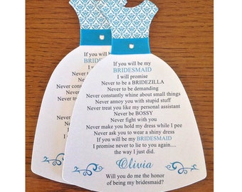 Will you be my bridesmaid card , Will you be my maid of honor, Matron of Honor, Flower Girl, Wedding Party Invitations- DAMASK