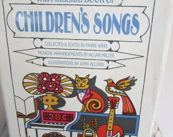 Vintage Fireside Book of Children's Songs 1966 Beautiful Illustrations