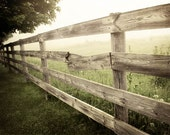 Rustic Fence Print, Country Landscape, Rustic Farmhouse Decor, Canvas Print, Rustic Home Decor, Country Landscape Print, Country Fence Photo