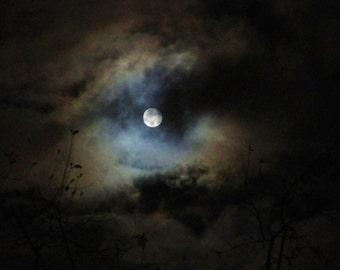 Trilogy of Full Moons..Wall art..Time Lapsed Photos..Home Decor by Trish Helsel Photography