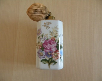Vintage KPM Marked Hand Painted Perfume Atomizer