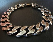 Mens Heavy Chain Bracelet. Oxidized Sterling Silver. Men's Jewelry. Gift for Him