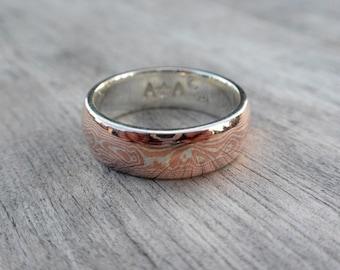 Mokume Gane Ring - 6mm's wide