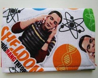 Big Bang Theory Fabric Credit Card Wallet, Sheldon, Leonard, Howard, Rajesh and Penny, Gift Card Holder, Business Card Wallet, Small Wallet